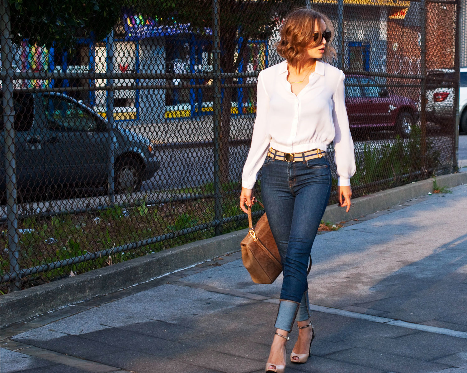 White Blouse And Blue Jeans 89