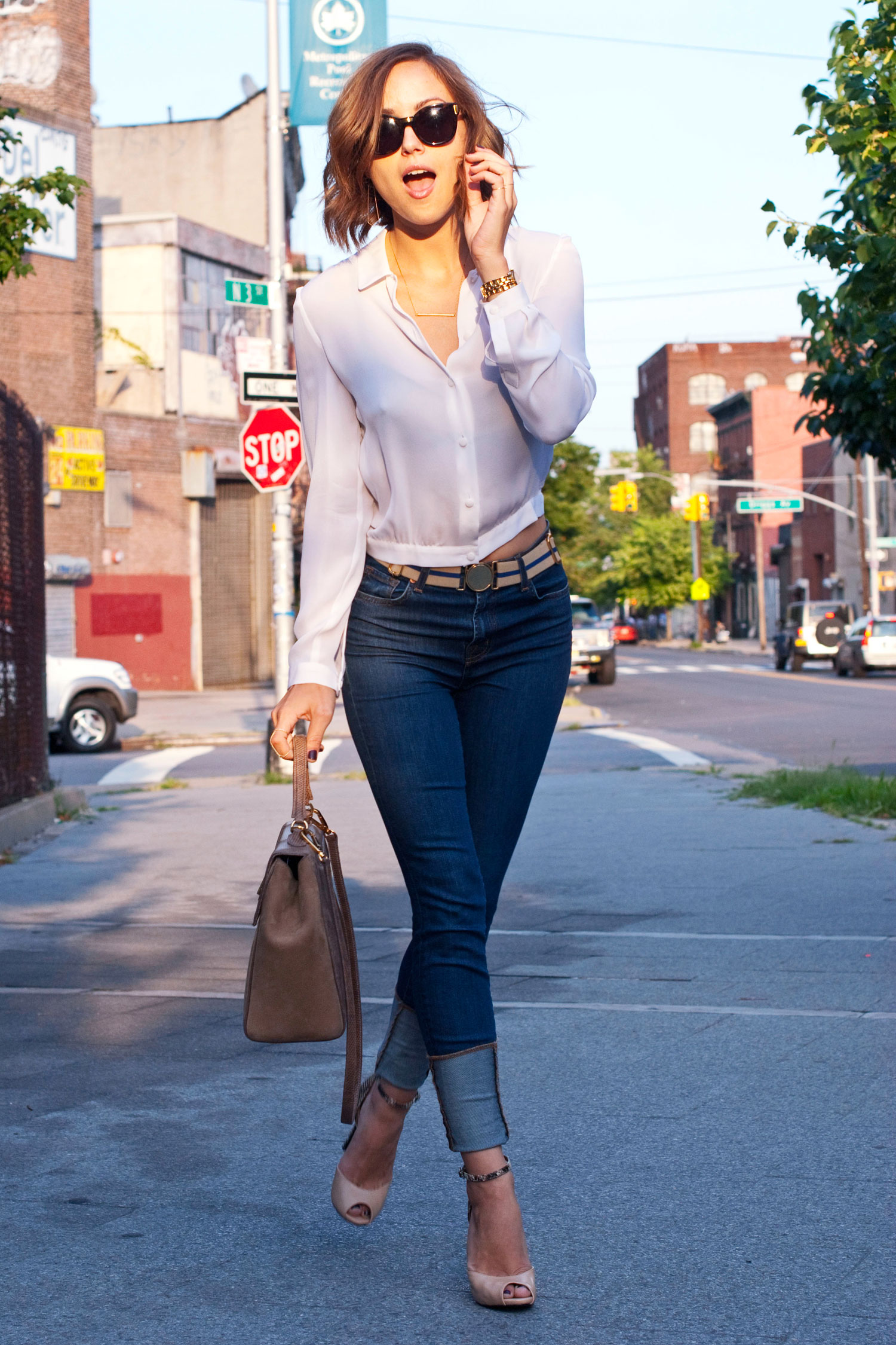 White Blouse And Jeans 9